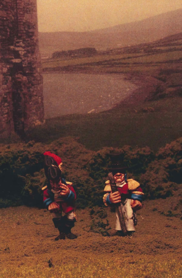Lord Wheeling-Turn and Colonel Bazun consider the outcome of a forthcoming battl