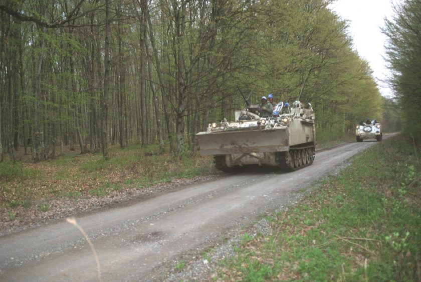 UN forces patrol the New Forest
