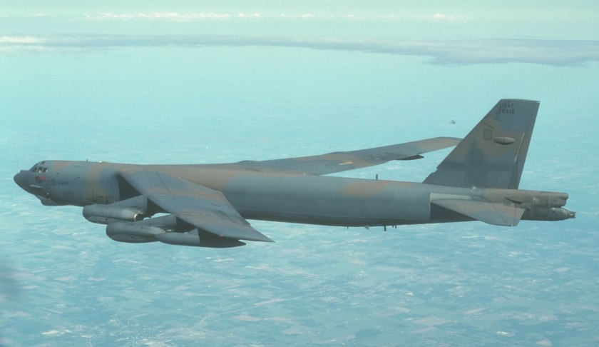 USAF B52 off the coast of Wales