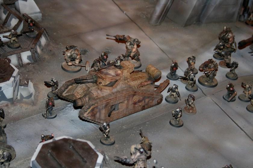 Renegade Malcador defending during the siege of Vraks.