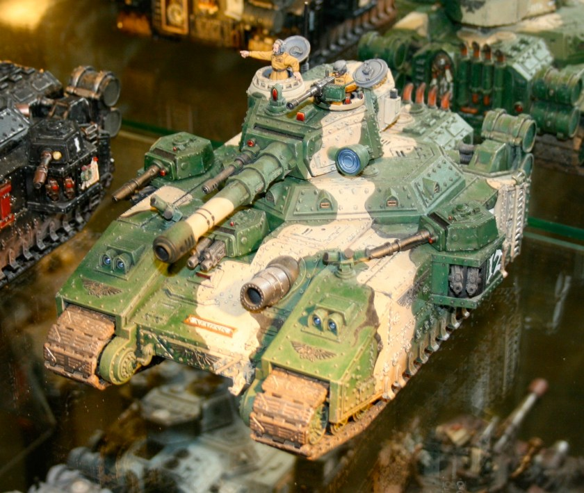 Imperial Guard Baneblade on display at Warhammer World.