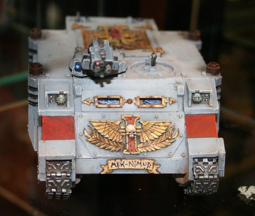Inquisitor Rhino with Forgeworld doors.
