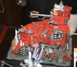 Bright Red Battlewagon from Golden Demon at GamesDay 2009