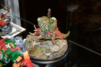 This is an Ork Squiggoth which was entered into the UK 2006 Golden Demon awards.