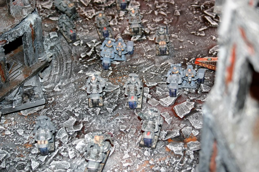 They are part of Mike Sharpe's superb Space Wolves army, which was on show at GamesDay 2006.