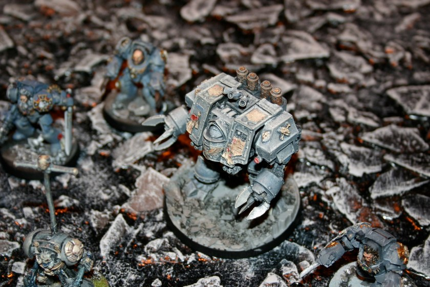A MkIV Dreadnought which is part of Mike Sharpe's superb Space Wolves army, which was on show at GamesDay 2006.