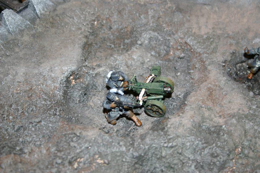 Death Korps of Krieg Team with Heavy Bolter.