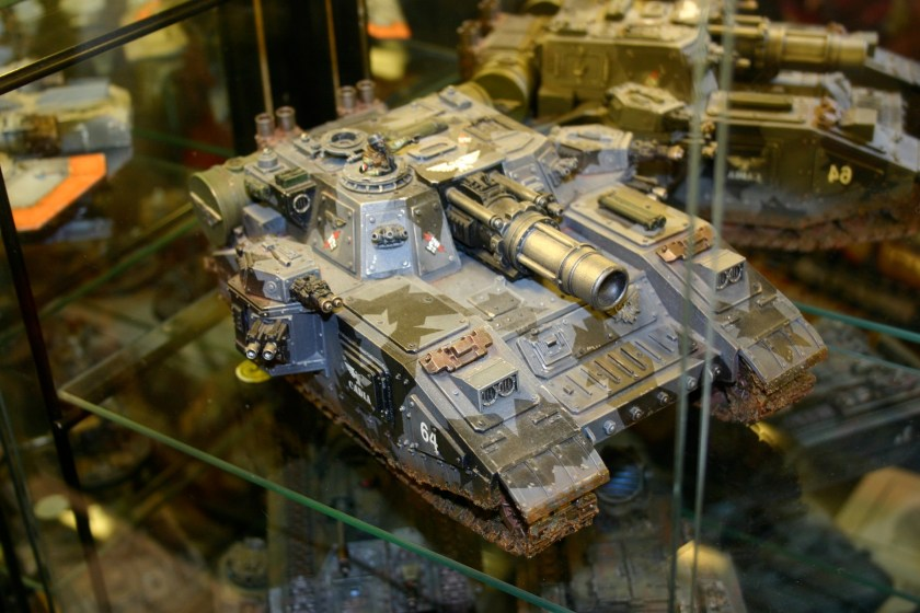 The Stormsword super heavy tank is built specifically for sieges and street fighting. Whilst the Shadowsword excels at long range and the Baneblade is an 'all rounder' equally at home in the open fields or in street fighting, the Stormsword lends its weight and firepower to troops at close quarters.