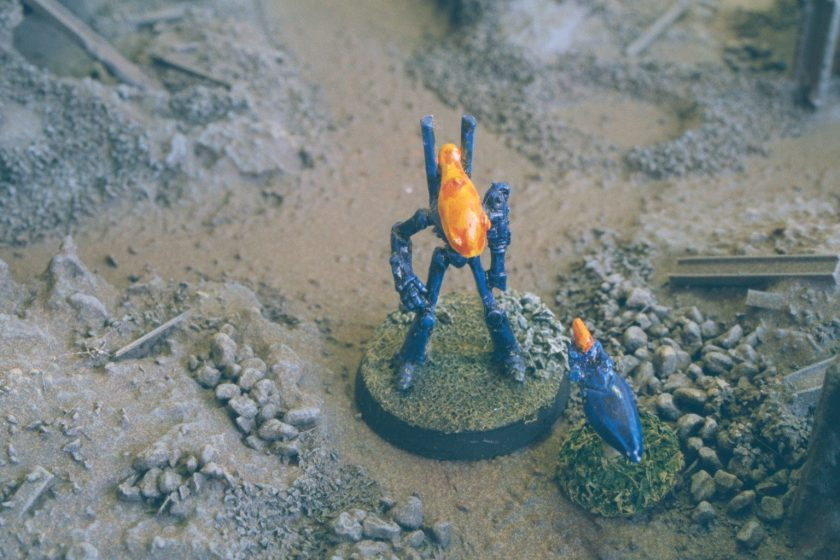 Eldar Wraithlord and Jetbike (well it was an Eldar dreadnought when the model was released).