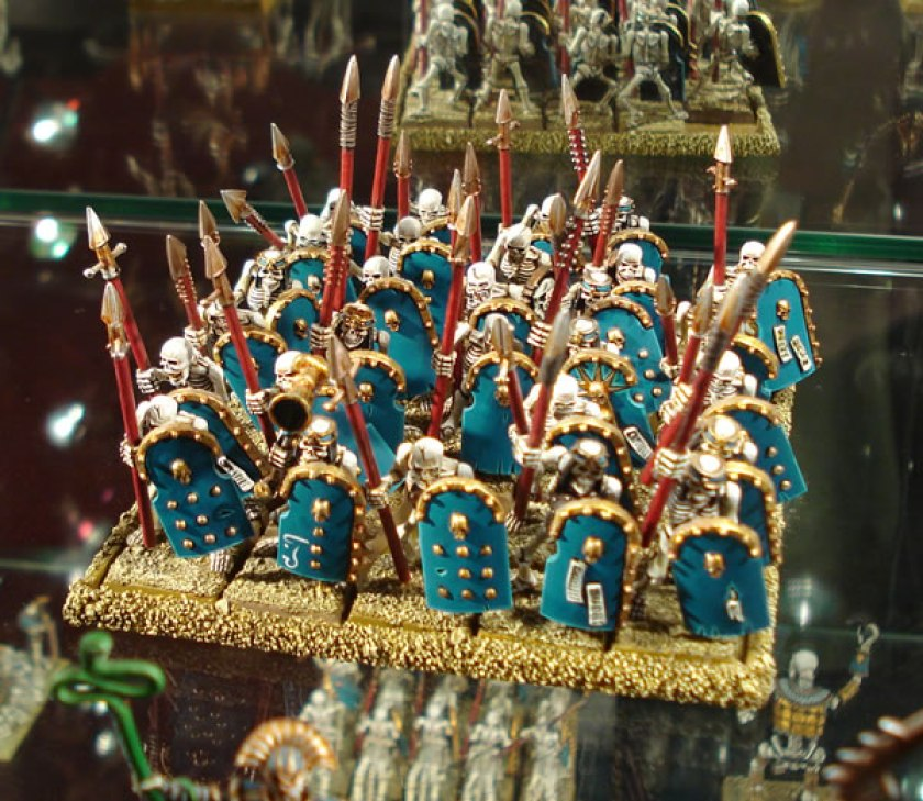 Skeleton Warriors on display at Warhammer World.