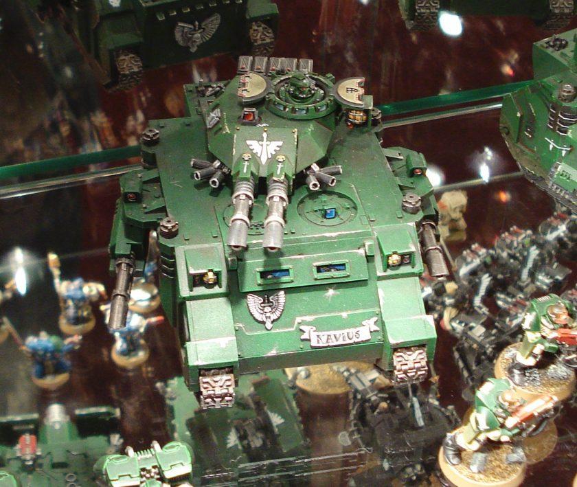 Dark Angels Predator at Warhammer World.