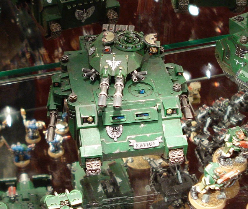 Dark Angels Predator at Warhammer World.