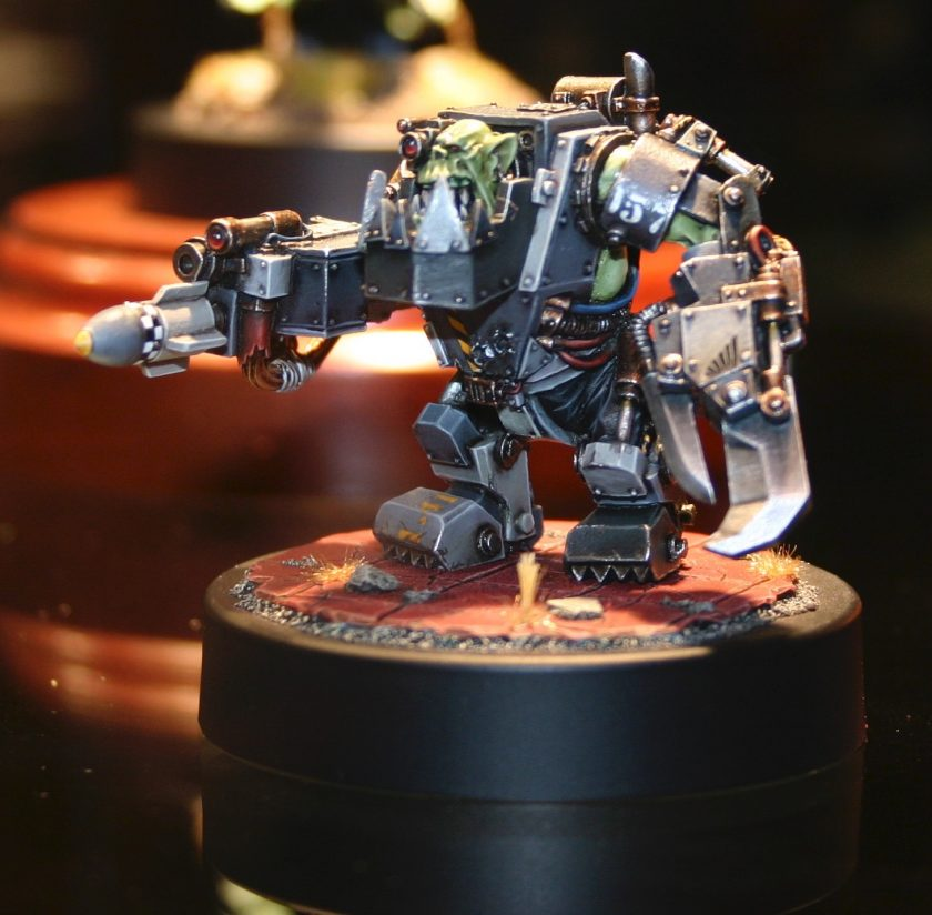 Ork Warboss in Mega-Armour from a display cabinet at GamesDay 2006.