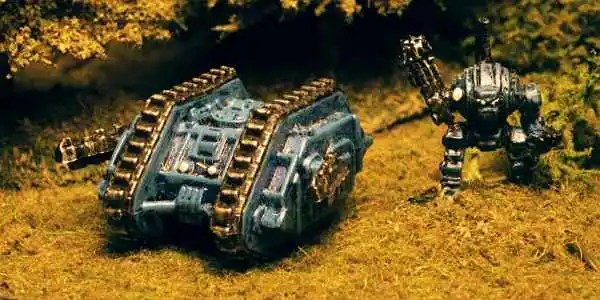 Old style Land Raider and Dreadnought