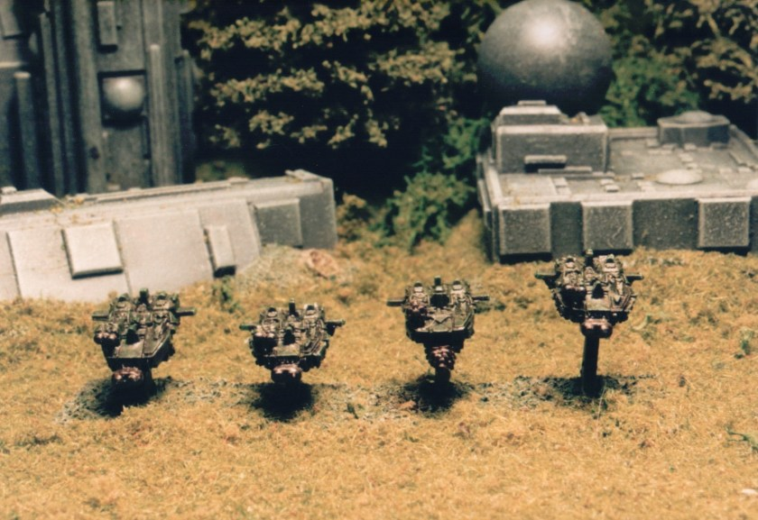 """A """"RavenWing"""" formation of Land Speeders launches itself along the flank"""