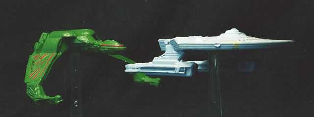 Klingon Bird of Prey & USS Saratoga