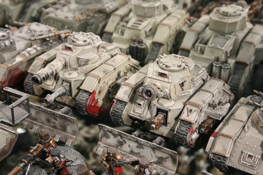 Vostroyan Imperial Guard Tanks at Warhammer World