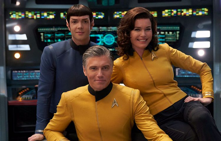 Captain Pike, Spock and Number One.