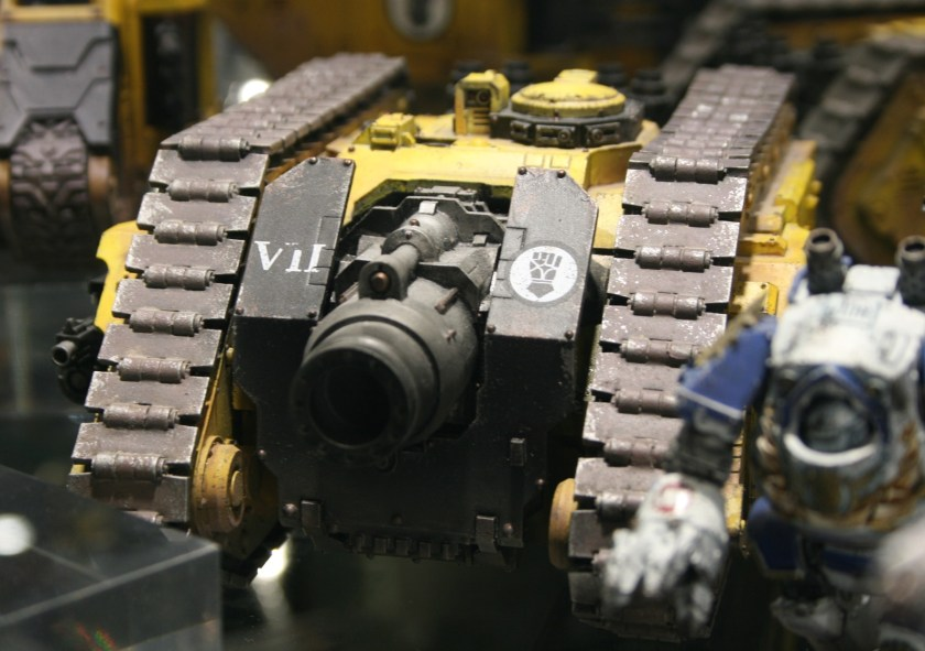 Imperial Fists Typhon Heavy Siege Tank at Warhammer World