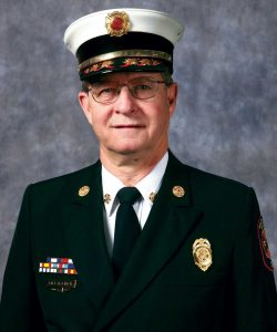 "Volunteer Fire Chief Willard H. ""Bill"" Halmich, of the Washington Volunteer Fire Company in Washington, Missouri"