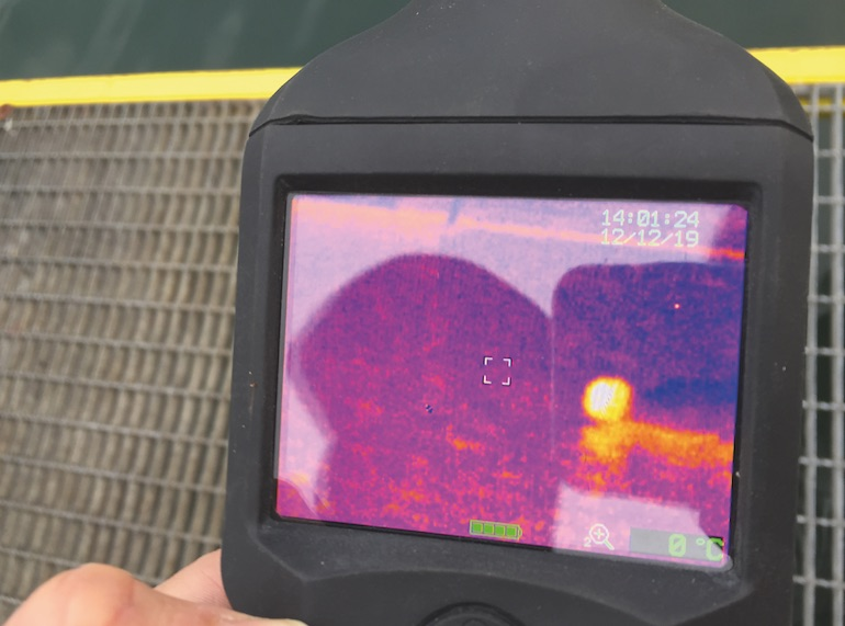The thermal-imaging hood has been tested at sea up to an altitude of 2,000ft.