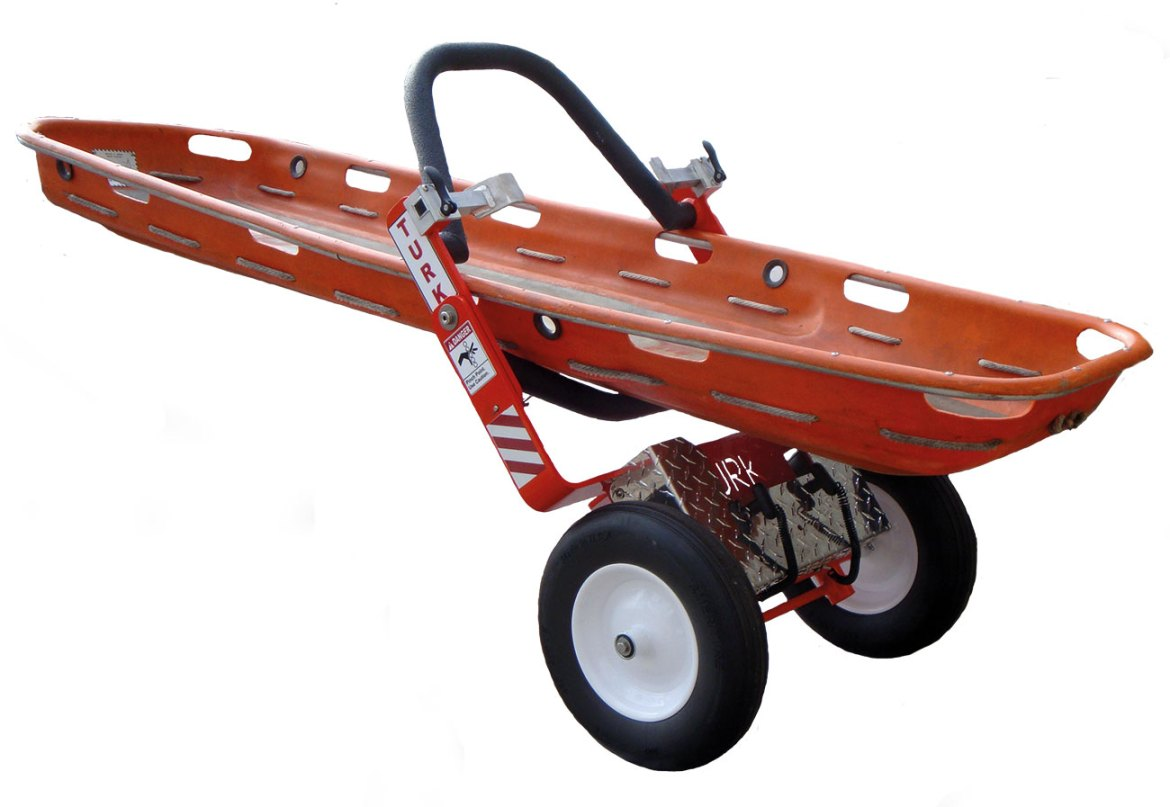 The TURK with its sturdy frame and non-pneumatic tyres is capable of carrying 600lb/273kg.