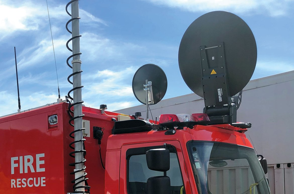 Satellite communication lets first responders stay in contact almost anywhere.