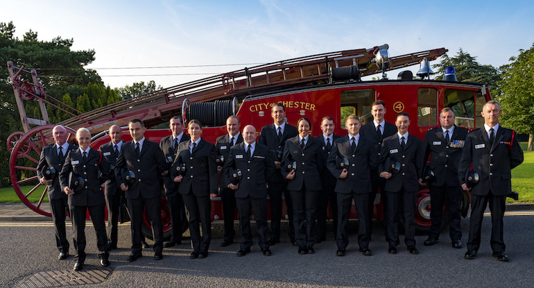 Firefighters migrating from on-call to whole-time positions. (Cheshire FRS)