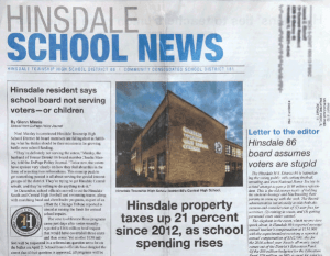The Hinsdalean newspaper article: 'Hinsdale School News' is no such thing