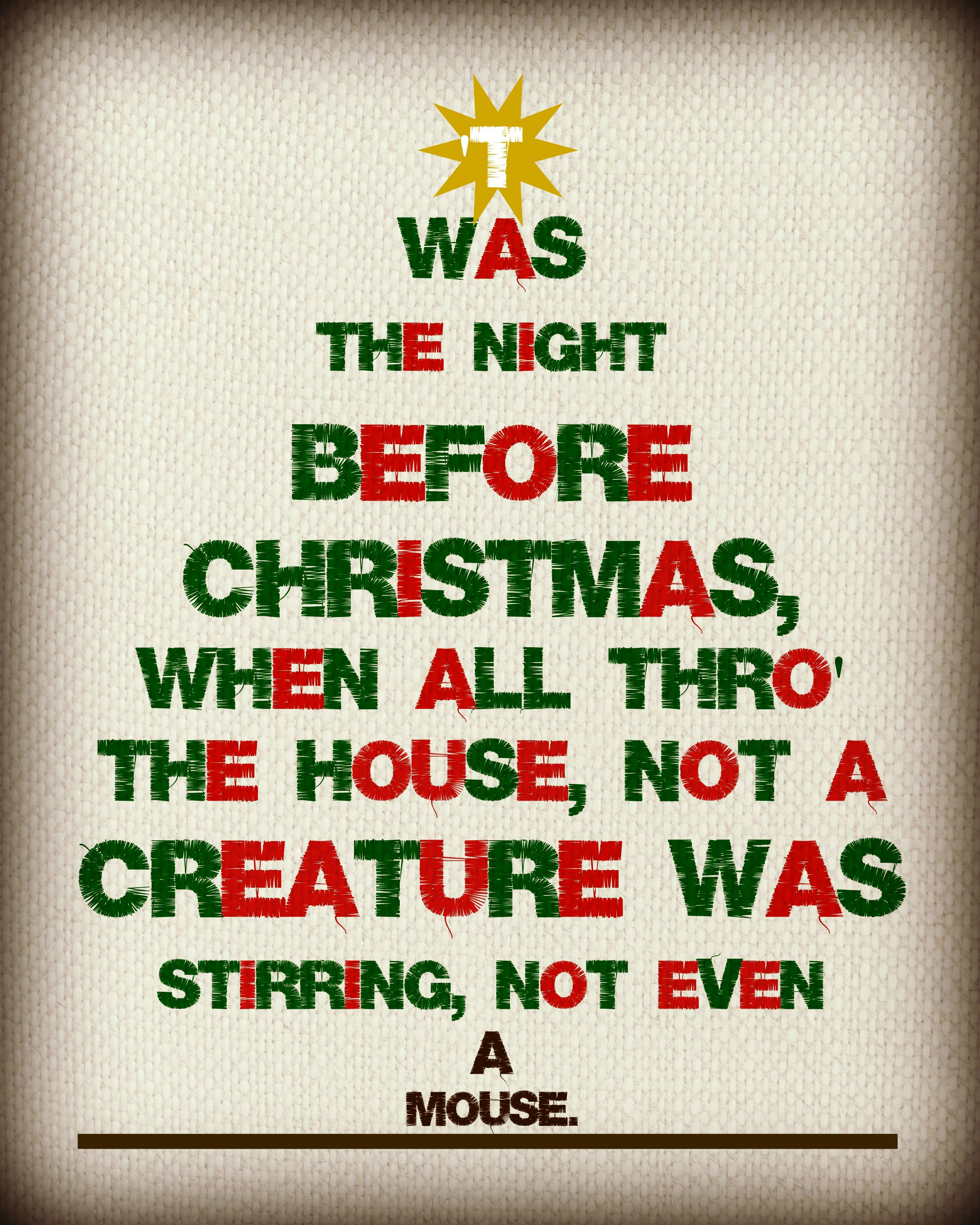 Twas The Night Before Christmas Free Printable If I Had A Million Hours