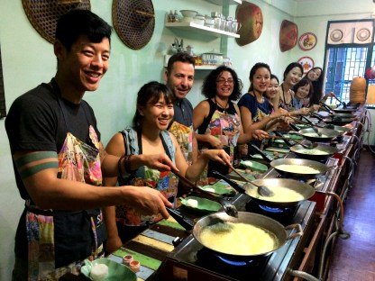 Our group cooking the curry