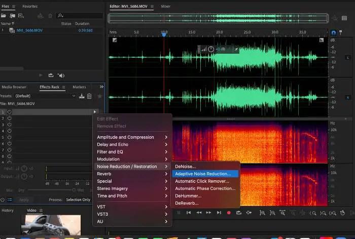 Remove background noise using Adaptive Noise Reduction