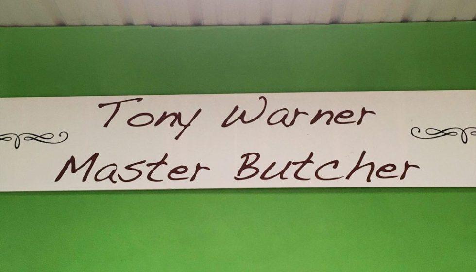 Tony Warner Master Butcher at Frensham Farm Shop