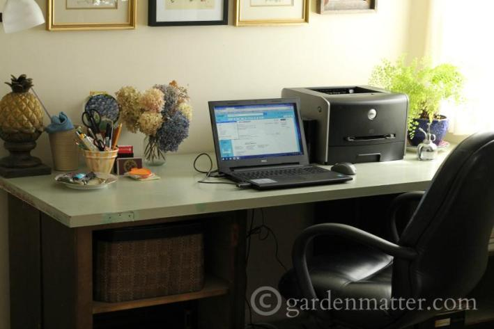 Office desk made with recycled door