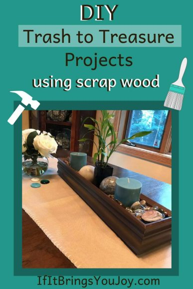17 Easy DIY trash-to-treasure projects using scrap wood. Tutorials included, so get creative and get started! #DIY #Upcycle #TrashToTreasure #Repurpose