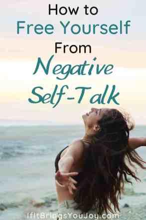 Woman feeling free from negative self-talk