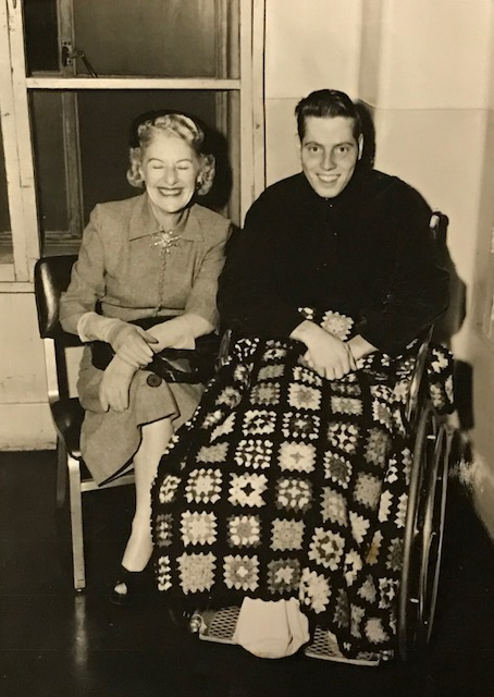 James W. Bleier, US Army, pictured with Maurine Doran Clark, wife of General Mark Clark.