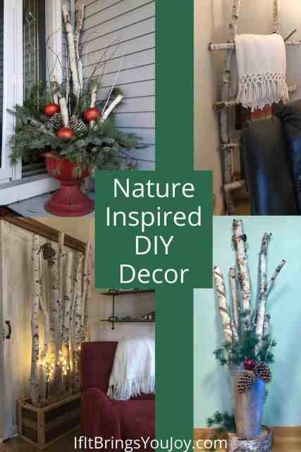 Nature inspired DIY home decor
