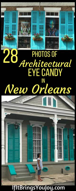 From the New Orleans French Quarter's century plus old houses, to the mansions in the Garden District, each has its own delightful personality. Enjoy 28 photos featuring spectacular New Orleans architectural elements. #NewOrleans