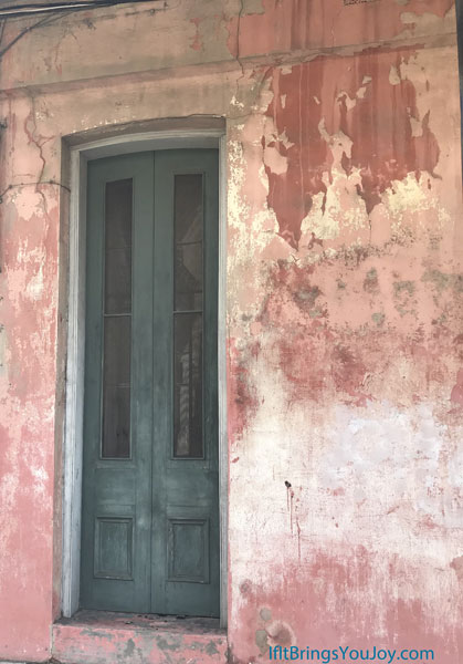 Interesting worn walls and door