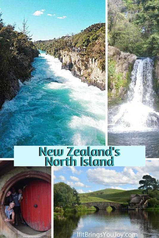 "Come along and travel vicariously throughout New Zealand's North Island. Enjoy over 50 photos of amazing scenery from volcanoes to waterfalls, and a fun video ""remake"" on Mt Doom. This group of young travelers self-drive on an epic tour of the North Island. #NewZealand"