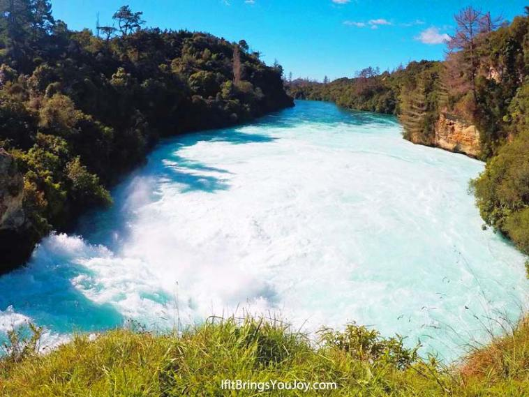 Huka Falls in Taupo, New Zealand