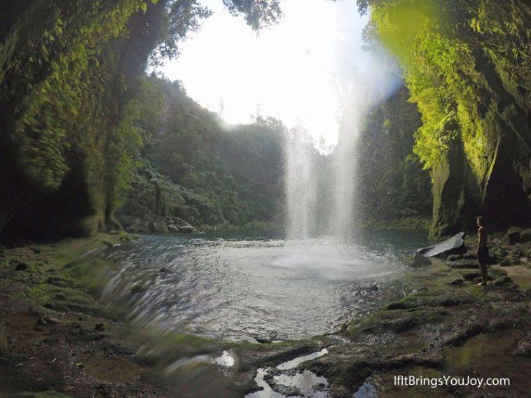 Beautiful Omanawa Falls near Tauranga, New Zealand