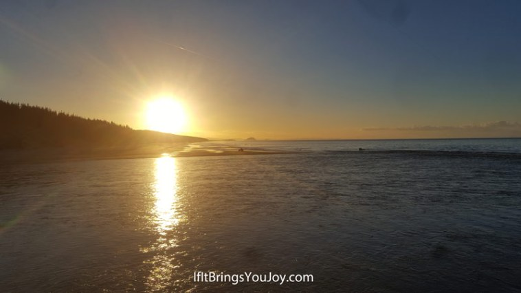 Sunset in Te Puke, New Zealand