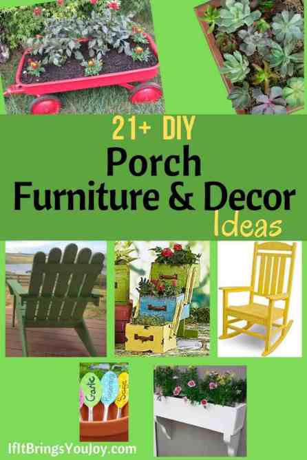 Porch furniture and decor projects