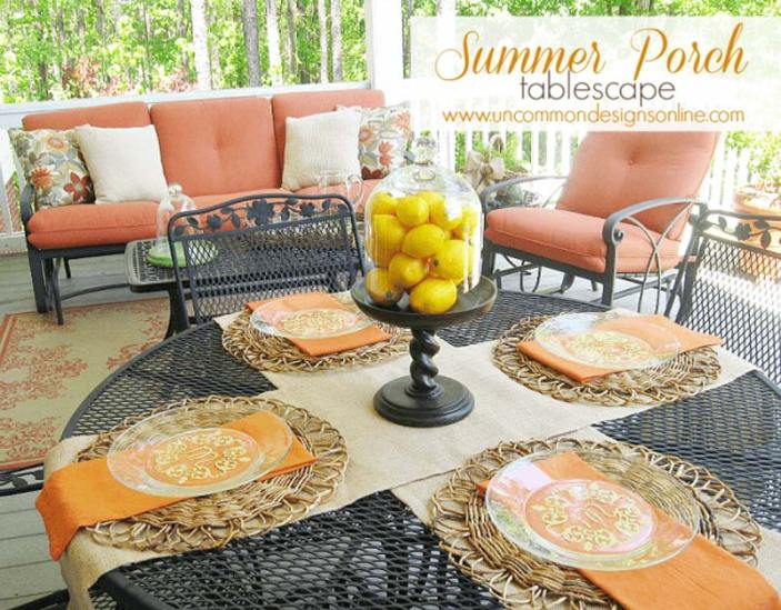 Summer porch tablescape