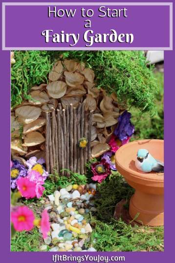 Create a charming DIY outdoor fairy garden with these easy step-by-step instructions. Fairy gardens are perfect for small outdoor spaces. Learn how to start a fairy garden and have fun making it. #DIY #FairyGardens #FairyHouses