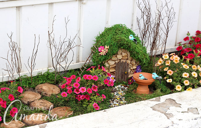 Whimsical fairy garden