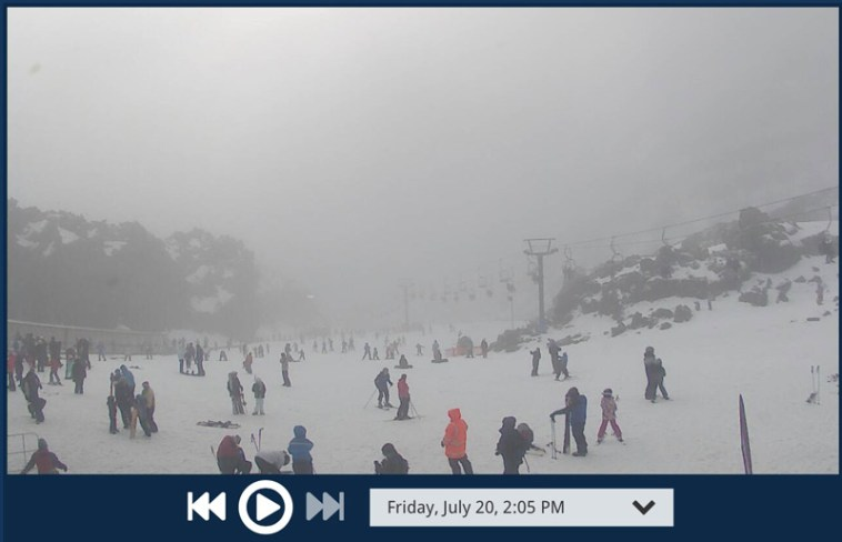 Webcam screenshot of Mt Ruapehu