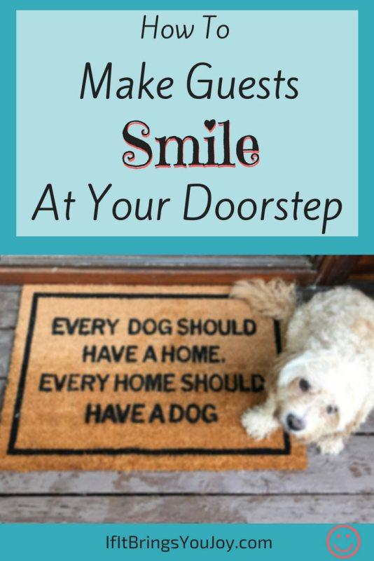 Dog by doormat